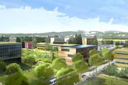 Perspective de la partie Ouest, Campus LyonTech La Doua