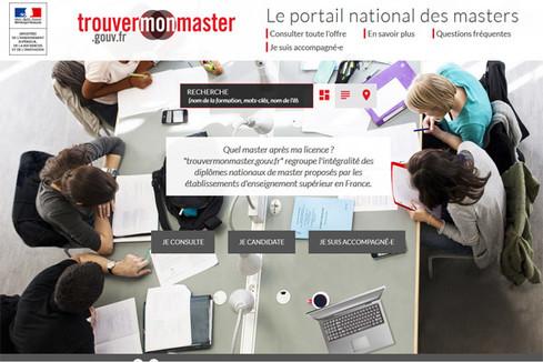 Lancement de la version actualisée du portail national d'information trouvermonmaster.gouv.fr