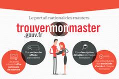 Le portail national trouvermonmaster.gouv.fr