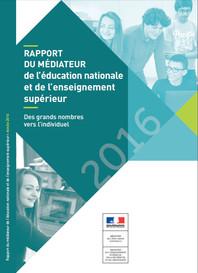 Rapport 2016 du médiateur de l'éducation nationale et de l'enseignement supérie
