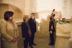 Hommage à Marie et Pierre Curie Jean Monnet et Jean Moulin