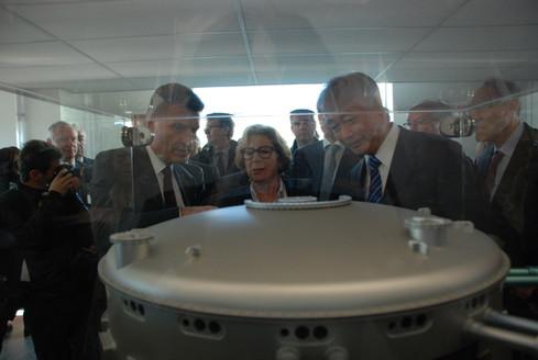 Inauguration du bâtiment siège d'ITER