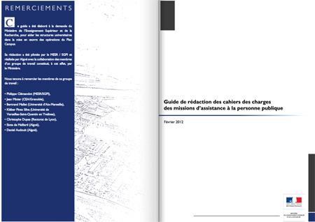 Guide : cahiers des charges missions d'assistance à la personne publique