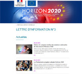 Lettre d'information Horizon 2020