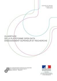 Dossier de presse ouverture de la plateforme Open Data ESR