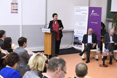 Déplacement de Frédérique Vidal à l'université de Cergy-Pontoise