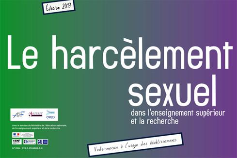 Vade-mecum à l'usage des établissements sur le harcèlement sexuel dans l'enseignement supérieur et la recherche