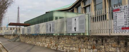 Exposition Infinités Plurielles sur les grilles de l'Unesco