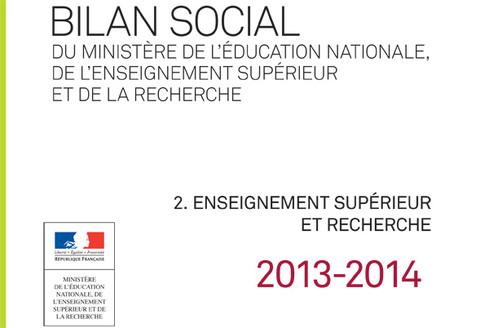 Bilan social 2013-2014 : partie 2. L'enseignement supérieur et la recherche