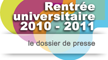 Rentrée universitaire 2010-2011