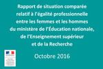 Rapport de situation comparée relatif à l'égalité professionnelle entre les femmes et les hommes du M.E.N.E.S.R.
