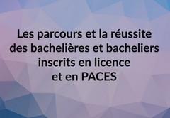 Les parcours et la réussite des bachelières et bacheliers inscrits en licence et PACES