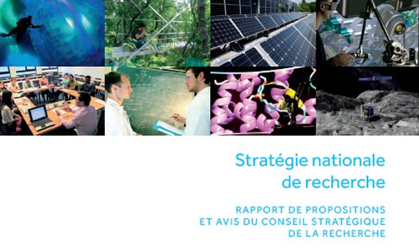 Rapport de propositions: Stratégie nationale de recherche