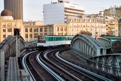 Une ligne aérienne du métro parisien
