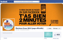 facebook elections crous 2012