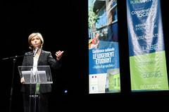 Valérie Pécresse lors de la Conférence nationale sur le logement étudiant