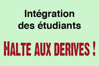 Sticker : Intégration des étudiants, halte aux dérives