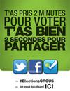 Campagne des élections aux conseils d'administration des CROUS 2012