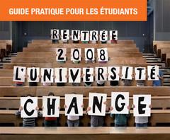 Guide pratique pour les étudiants, rentrée 2008