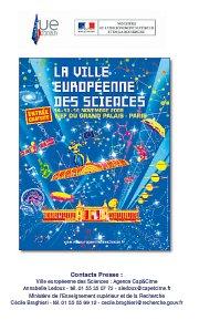 Couverture du dossier de presse Ville européenne des science