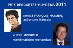 Remise du Prix Descartes-Huygens