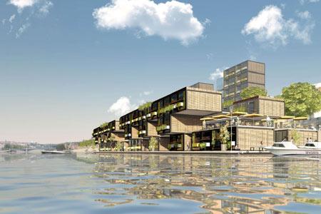 Lyon, projet de logement étudiant sur le Rhône