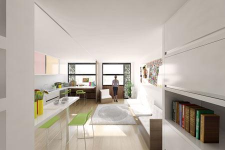 Lyon, vue logement étudiant, espaces loisirs travail