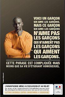 Affiche Campagne lutte contre l'homophobie