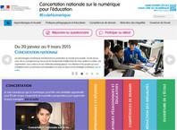 Site de la concertation sur le numérique à l'école
