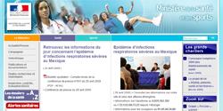 Site du ministère de la santé