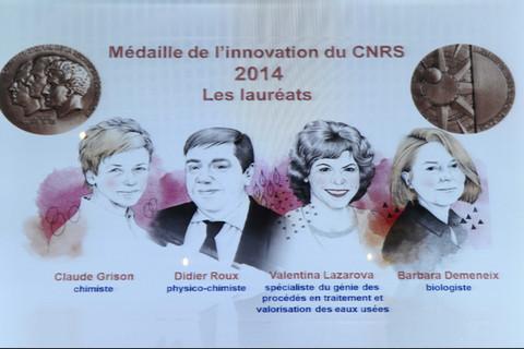 Remise des médailles de l'innovation 2014 du C.N.R.S.