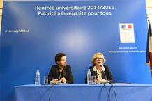 Voir la vidéo : Conférence de presse rentrée universitaire 2014/2015