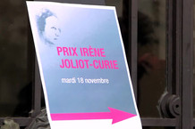 Voir la vidéo : Remise du prix Irène Joliot-Curie 2014