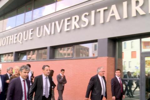 Visite de Thierry Mandon à l'Université d'Evry-Val-d'Essonne