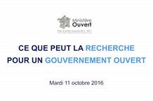 Voir la vidéo : Ce que peut la recherche pour un gouvernement ouvert