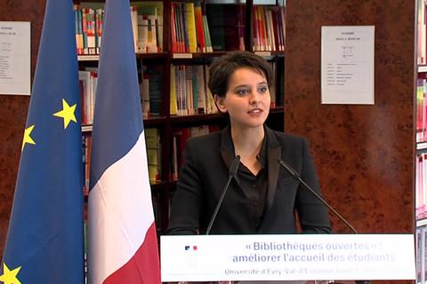 Plan bibliothèques ouvertes : discours de Najat Vallaud-Belkacem