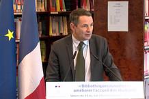 Voir la vidéo : Plan bibliothèques ouvertes : discours de Thierry Mandon